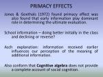primacy effects