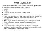 what level am i identify the level for each of the below questions
