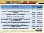 cost of crime 2011 dollars