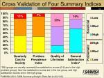 cross validation of four summary indices