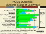 noms outcomes outcome status at last wave