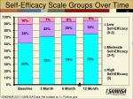 self efficacy scale groups over time