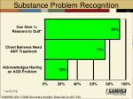 substance problem recognition