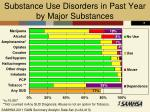 substance use disorders in past year by major substances