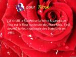 pour rose