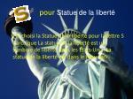 pour statue de la libert