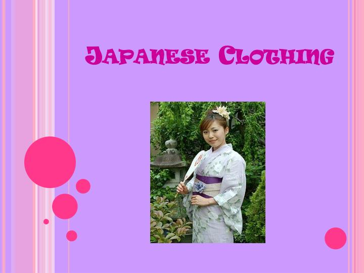 japanese clothing n.
