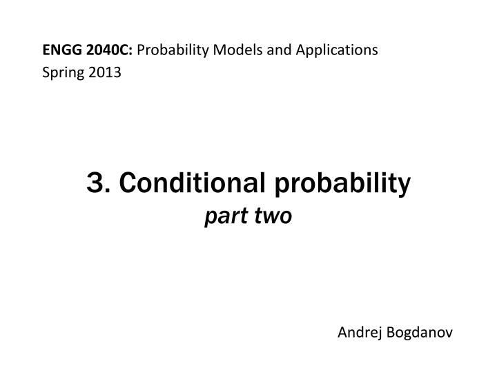 3 conditional probability part two n.