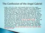 the confession of the angel gabriel
