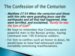 the confession of the centurion