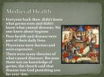 medieval health