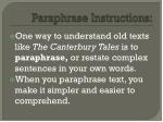 paraphrase instructions