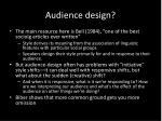 audience design