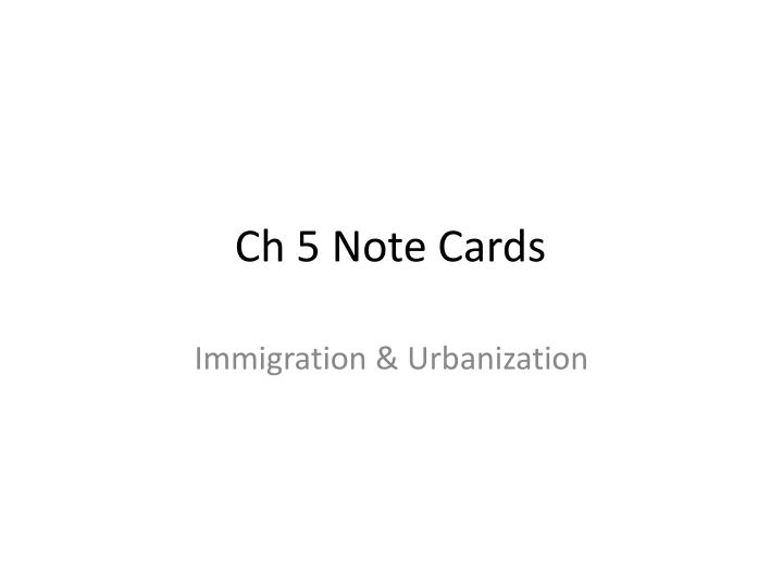 ch 5 note cards n.