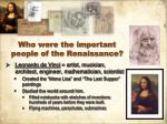 who were the important people of the renaissance