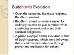buddhism s evolution