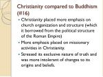 christianity compared to buddhism 16