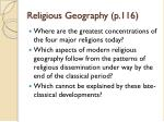 religious geography p 116