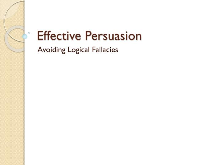 avoiding fallacies