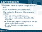 low refrigerant charge