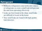 refrigerant leaks
