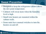 sweat prevention heaters