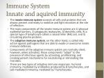 immune system innate and aquired immunity