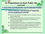 a end of the 2nd world war and providential position