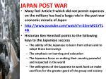 japan post war