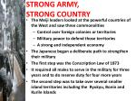 strong army strong country