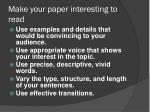 make your paper interesting to read