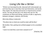living life like a writer
