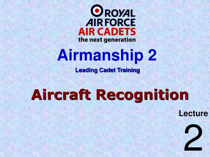 aircraft recognition n.