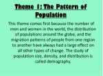 theme 1 the pattern of population
