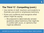 the third c compelling cont