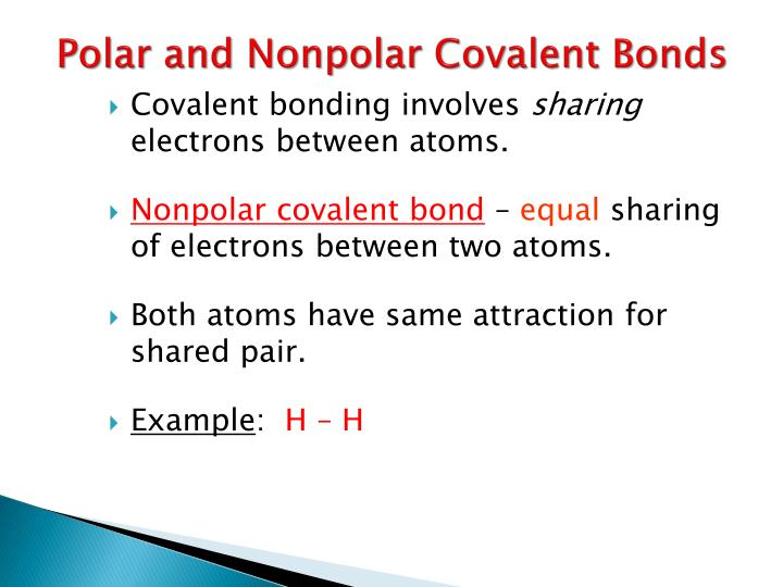 Ppt Polar And Nonpolar Covalent Bonds Powerpoint Presentation Id