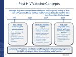 past hiv vaccine concepts