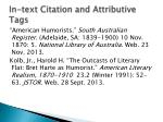 in text citation and attributive tags