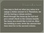 values auction1