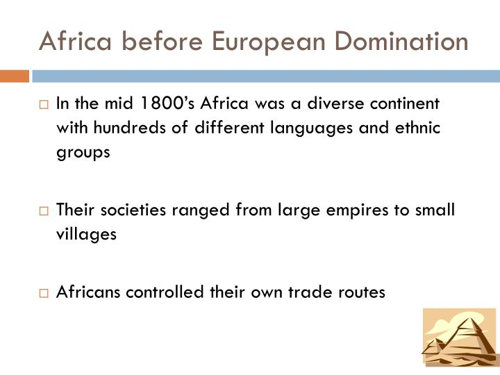 Africa before european domination