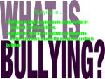 bullying is