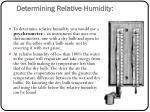determining relative humidity