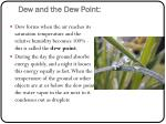 dew and the dew point