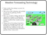 weather forecasting technology