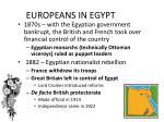 europeans in egypt