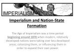 imperialism and nation state formation