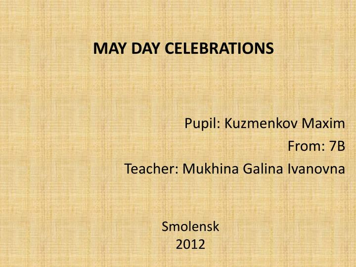 may day celebrations n.