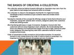 the basics of creating a collection