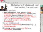 kologischer fu abdruck nach sustainable process index