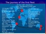 the journey of the first fleet1